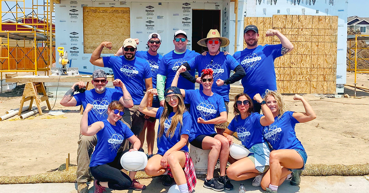 Sales Team Giving Back to Community